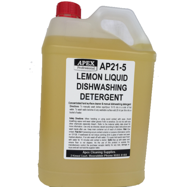apex lemon dishwashing detergent