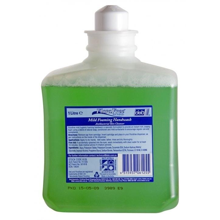 deb florafree mild foaming handwash