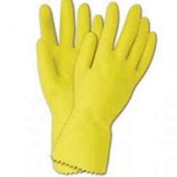 Mediflex flock yellow glove