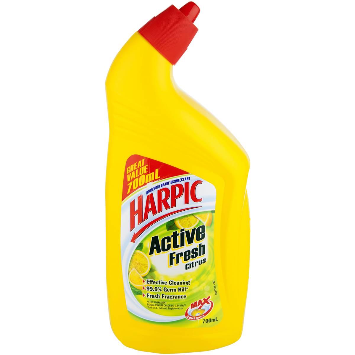 harpic active toilet cleaner citrus