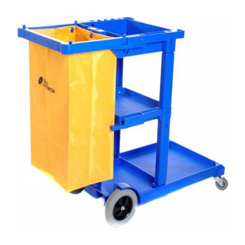 janitors cart blue