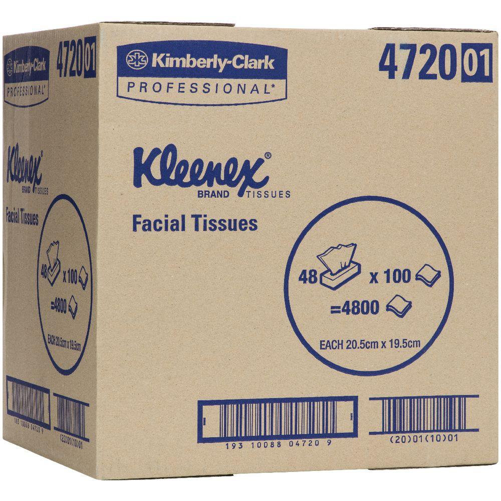 kleenex facial tissues carton