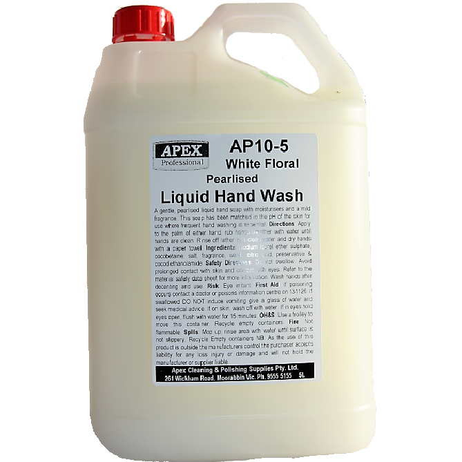 apex white floral hand wash