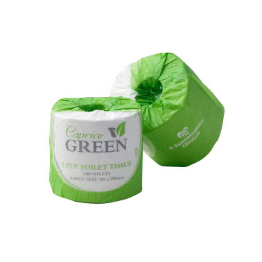 caprice green individually wrapped paper