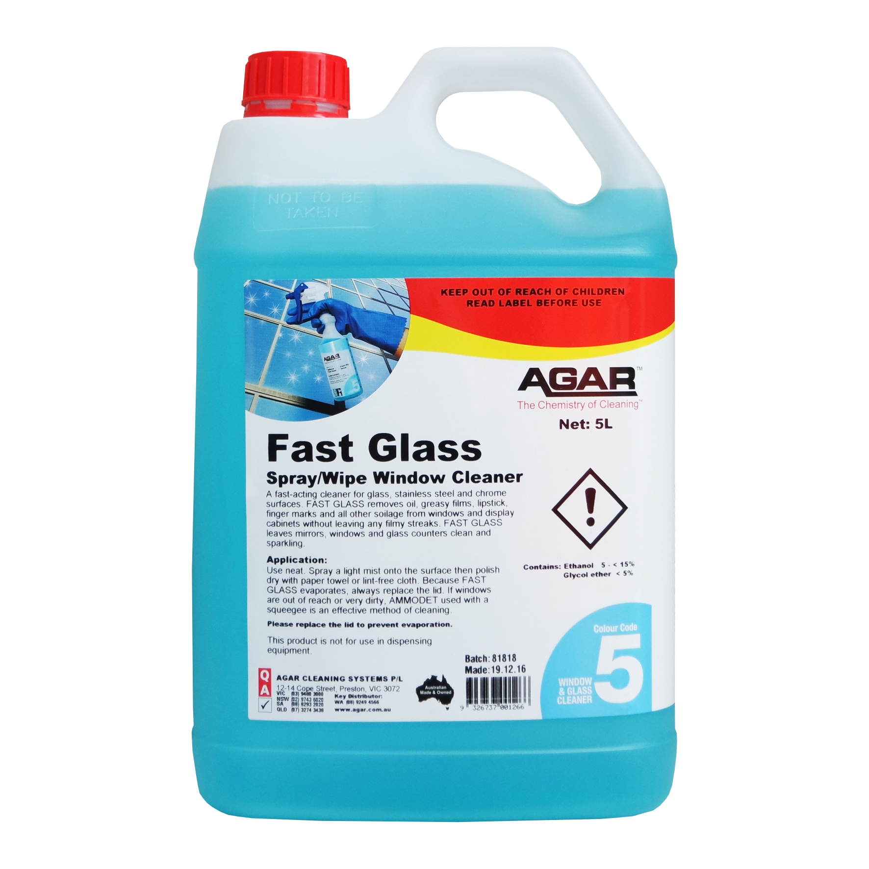 Agar Fast Glass Cleaner